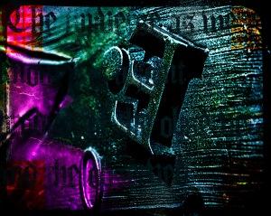 E - Metalwork Abstract