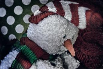 I'll Be Home for Christmas - sad Christmas snowman toy