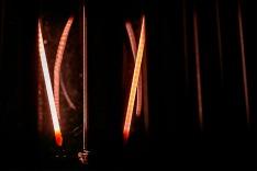 abstract macro light bulb filaments
