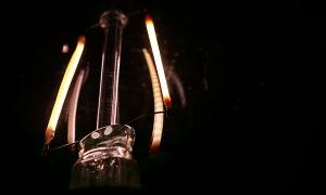 Abstract macro light bulb