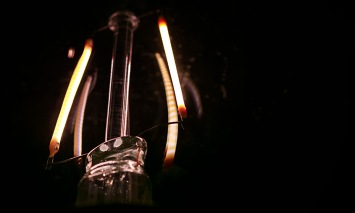 Abstract macro light bulb