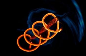 Aurora: : Abstract Light Bulb Filament