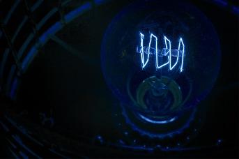 Blue Light: Abstract Light Bulb
