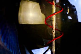 Firepole - abstract macro light filament