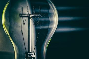 Telegraph Road - abstract macro light filament