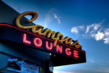 Campus Lounge - Neon Sign - Denver CO