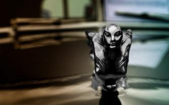 Yin: 1931 Cadillac Hood Goddess Ornament