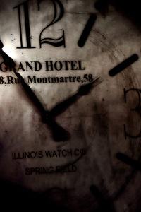 Antique Clock - Grand Hotel, 58 Rue Montmartre